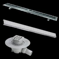bodenabl ufe duschrinnen f r begehbare duschen g nstig. Black Bedroom Furniture Sets. Home Design Ideas