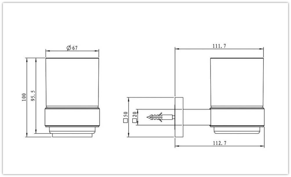 avenarius serie 420 glashalter mit glas 4201100010 kaufen. Black Bedroom Furniture Sets. Home Design Ideas