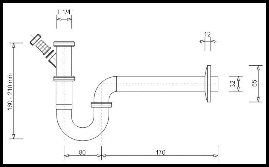 waschtisch siphon dn 32 x 1 1 4 mit ger teanschlu chrom. Black Bedroom Furniture Sets. Home Design Ideas