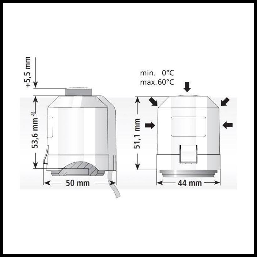 stellantrieb f r fu bodenheizung 24 230 v nc no m30 x 1 5. Black Bedroom Furniture Sets. Home Design Ideas