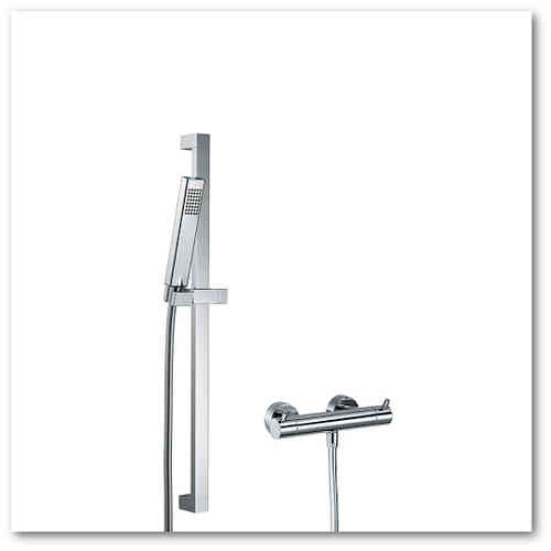 HSK Shower-Set  1.01 f. Brause eckig, chrom, 1000101-E