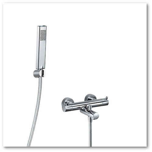HSK Shower-Set 1.09 f. Wanne eckig, chrom, 1000109-E