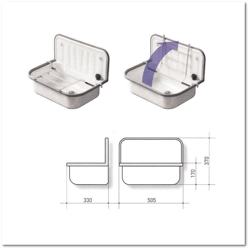 stahl ausgussbecken wei emailliert 505 mm inkl ventil. Black Bedroom Furniture Sets. Home Design Ideas